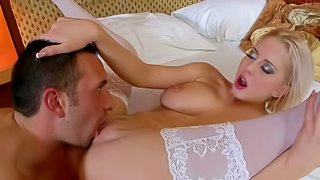 Beautiful Russian blonde Mandy Dee with big tits and smooth pussy gets used by horny Keiran Lee in this hot video with some behind the scenes. he really likes her totally smooth pussy and big natural boobs