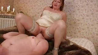Aged Female-Dominant - FaceSitting, Chaps's Masturbation (+slow)