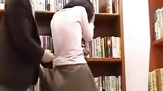 plays vibrator in silent library