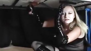 Mistress makemale slave to cum