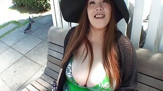 Busty Asian BBW sucking and fucking