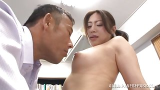 Horny office babe Kaori enjoys one nasty fuck at work