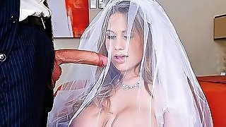 Slutty big breasted bride Alanah...