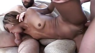Phat Ass Ebony Babe in Interracial